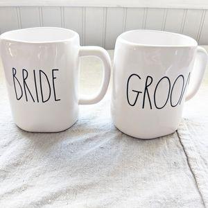 (Rae Dunn) Bride & Groom Matching Coffee Mugs